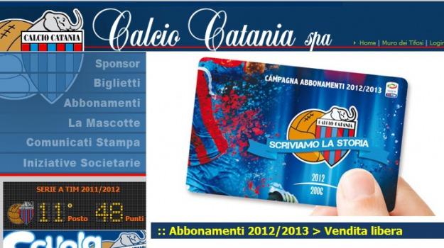 campagna abbonamenti, catania, Sicilia, Sport