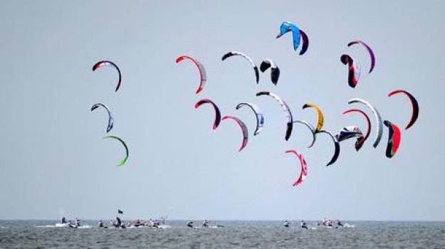 campionato europeo, gizzeria, kitesurf, Catanzaro, Calabria, Sport