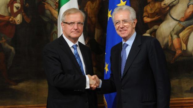 mario monti, olli rehn, spending review, Sicilia, Archivio