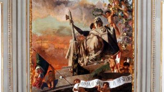 affresco, allegoria di roma, camera, crollo, Sicilia, Archivio