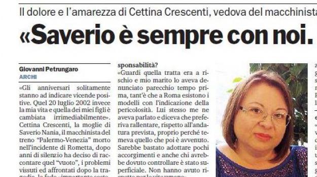 anniversario, rometta, treni, Messina, Archivio