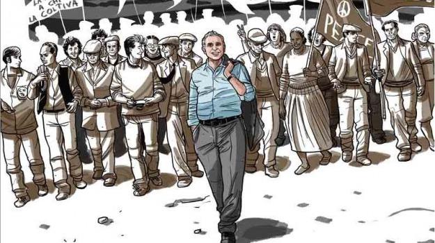 fumetti, la marcia di pio, pio la torre, Sicilia, Archivio