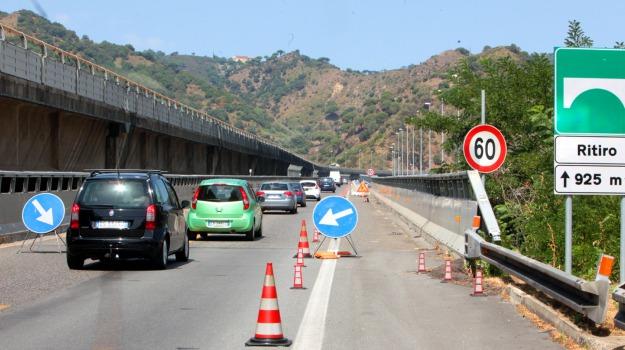 a20, messina, raffico autostradale, svincolo di giostra, viabilità, viadotto ritiro, Messina, Sicilia, Cronaca