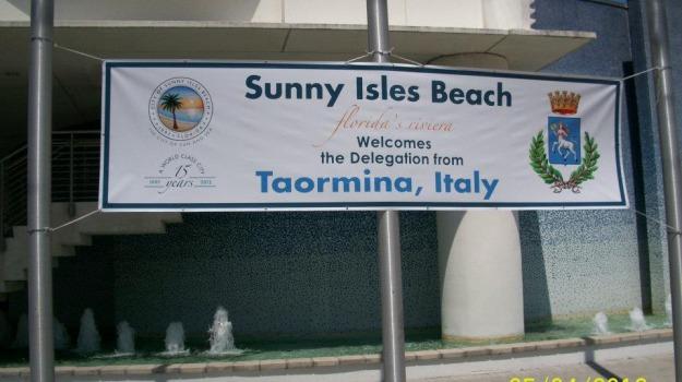 florida, gemellaggio, sunny isles beach, taormina, Messina, Archivio