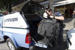 Trolley sospetto vicino al tribunale di Messina, intervenuto gli artificieri