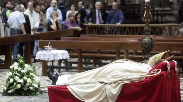camera ardente, cardinale, carlo maria martini, funerali, Sicilia, Archivio, Cronaca