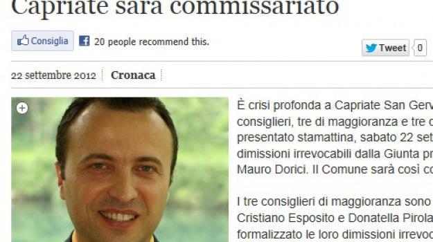 bergamo, capriate san gervasio, fidanzata, nomina, sindaco, vice, Sicilia, Archivio, Cronaca