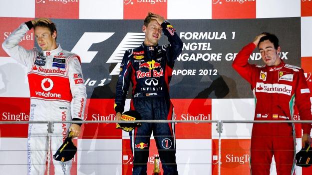 f1, gran premio, singapore, vettel, Sicilia, Archivio, Sport