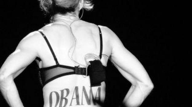 madonna, new york, obama, presidenziali, stati uniti, tatuaggio, yankee stadium, Sicilia, Archivio
