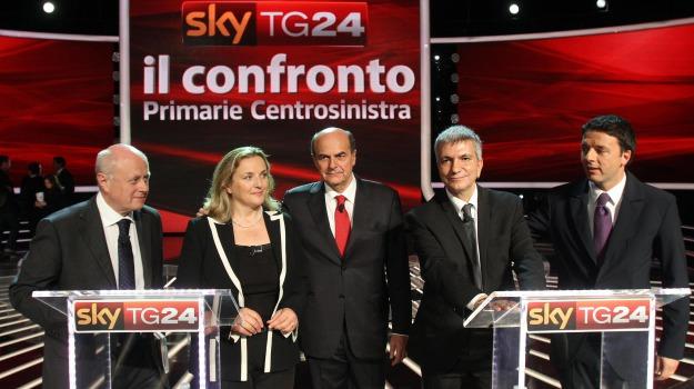 bersani, centrosinistra, pd, primarie, renzi, sky, vendola, Sicilia, Archivio, Cronaca