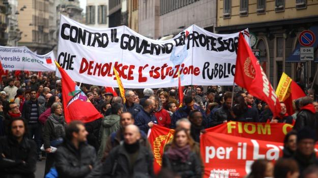 cgil, manifestazioni, milano, roma, torino, Sicilia, Archivio, Cronaca