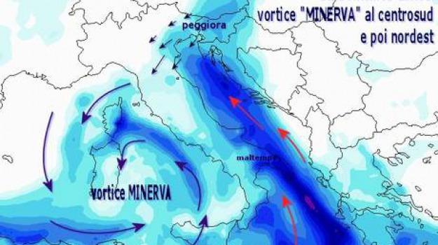 maltempo, minerva, sud, Calabria, Archivio