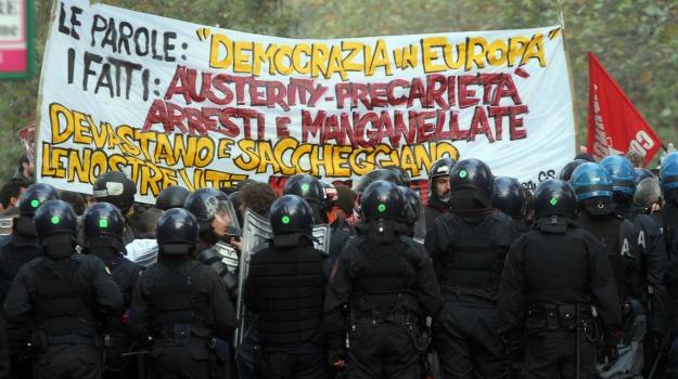 studenti in piazza, Sicilia, Archivio, Cronaca