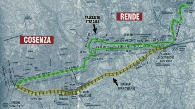 comune, metropolitana leggera, progetto, Cosenza, Calabria, Archivio