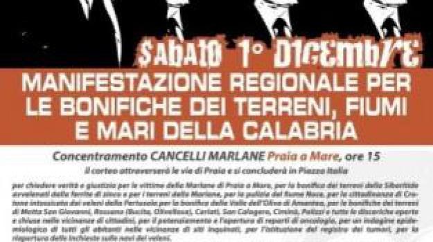 bonifica, difendiamo la calabria, manifestazione, praia a mare, rdt nisticò, Calabria, Archivio