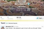 Il primo tweet di Benedetto XVI
