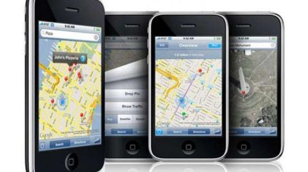google maps, iphone, Sicilia, Archivio, Cronaca
