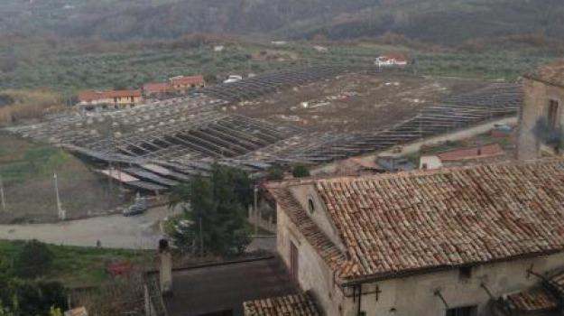 comune, parco fotovoltaico, protesta, san vincenzo la costa, Calabria, Archivio