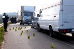 Assalto a portavalori con kalashnikov