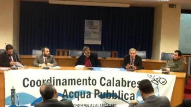 calabria, consiglio regionale, coordinamento acqua pubblica, proposta di legge, Cosenza, Calabria, Archivio