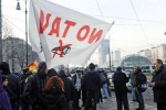 Monti a Torino Protesta no-Tav