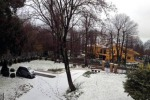 Nubifragio a Roma neve in Ciociaria