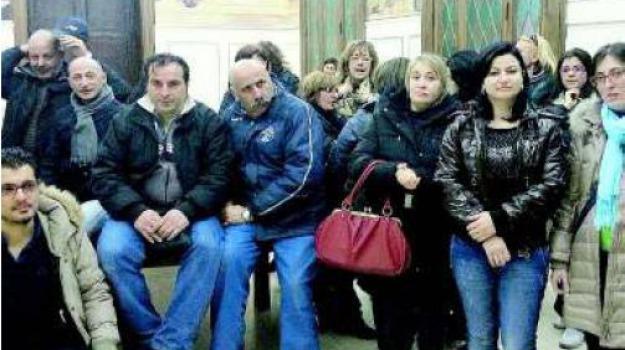 protesta municipio, Catanzaro, Calabria, Archivio