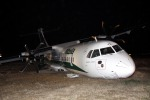 Vento forte aereo fuori pista a Fiumicino