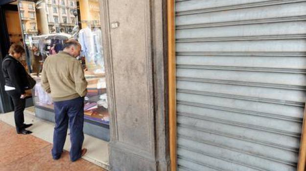 crisi, negozi, Sicilia, Archivio