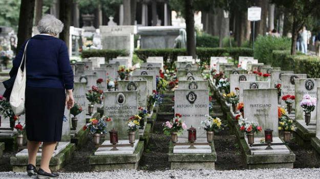 danneggia immagini cimitero, Catanzaro, Calabria, Archivio