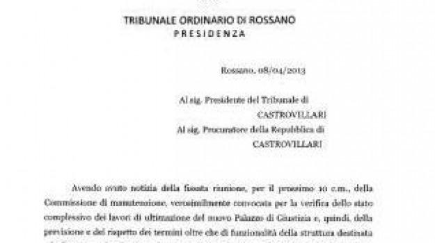 castrovillari, proroga, rossano, soppressione, tribunale, Sicilia, Archivio