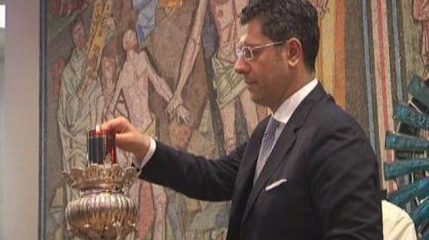 festeggiamenti, olio lampada, paola, san francesco, Calabria, Archivio