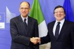 Il premier Letta incontra Barroso