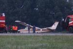 Incidente aereo sulla pista di Linate