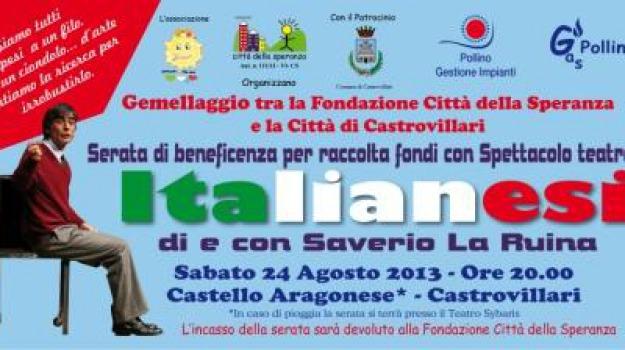 beneficienza, castrovillari, citta della speranza vicenza, gemellaggio, oncologia pediatrica, ricerca, Calabria, Archivio
