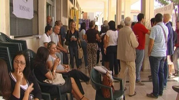 antoniotti, cancellieri, protesta, tribunale rossano, Calabria, Archivio