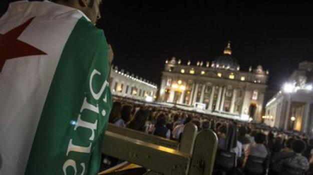 papa francesco, veglia contro guerra in siria, Sicilia, Archivio, Cronaca