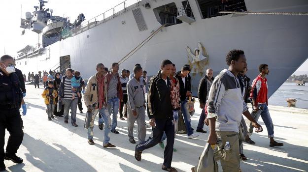 migranti, norimberga, sbarco, Messina, Archivio