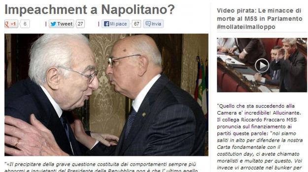 grillo, impeachment, napolitano, Sicilia, Archivio, Cronaca