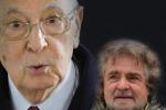 Grillo, subito elezioni nuovo attacco al Colle
