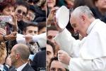 E il fedele regalò lo zucchetto al Papa