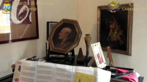 ernesto diotallevi, sequestrate opere d'arte, Sicilia, Archivio, Cronaca