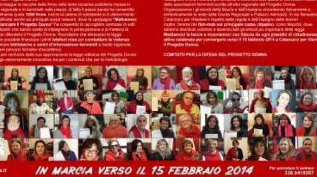 femminicidio, finanziamento legge, mainifestazione catanzaro, progetto donna, violenza donne, Cosenza, Calabria, Archivio