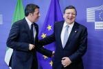 """Renzi replica a Barroso """"Italia rispetta vincoli"""""""