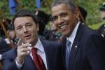 """Renzi """" Obama è un'ispirazione"""""""