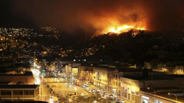 cile, incendio, morti, Sicilia, Archivio