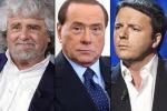 Grillo attacca Renzi e Berlusconi