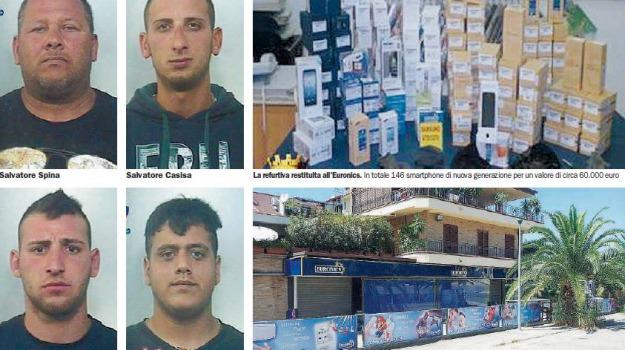 furto euronics, Sicilia, Archivio