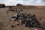 L'esercito israeliano risponde al fuoco di Hamas