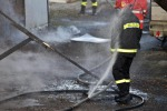 Capannone distrutto da un incendio